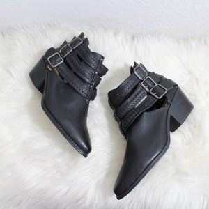 Black Booties Strappy Booties Size 7